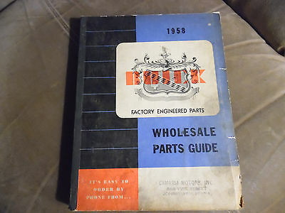 1958 Buick Wholesale Parts Guide Factory Engineered Parts