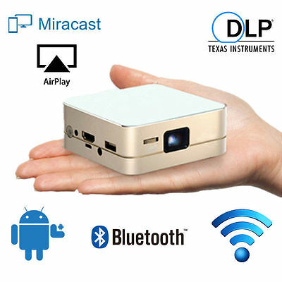 Mini Pocket 4K 1080P Wifi DLP Android IOS Home Theater Projector Cinema HDMI SD