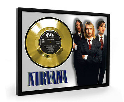 Nirvana Come As You Are Framed Gold Disc Display Vinyl (C1)