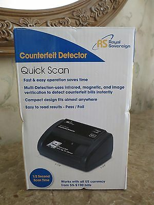 BRAND NEW~ROYAL SOVEREIGN~Counterfeit Detector Quick Scan
