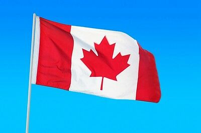 Outdoor Canadian Flag Polyester Canada Maple Leaf Banner Party Festive 3 x 5Ft