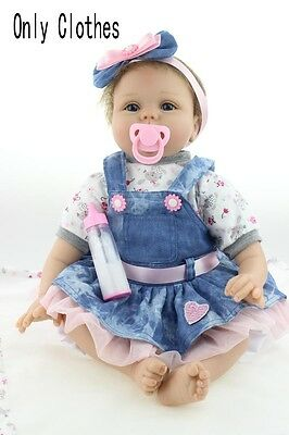 "11"" Cute Reborn Baby New Pink Newborn Clothes With Pillow Kids Luxury toy Dress"