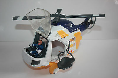 Fisher Price Imaginext Ocean Rescue Helicopter 1 Figure And Stretcher