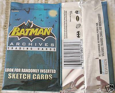 Batman Archives Trading Card Pack Fresh from Box!