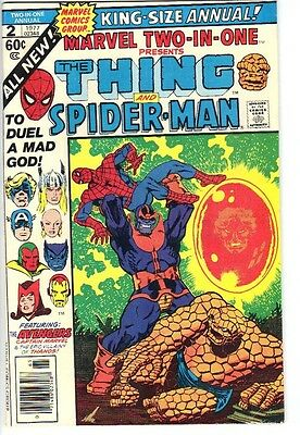 Marvel Two-In-One Annual #2 (1977) VF+ 8.5 2nd death of Thanos! End Thanos Saga
