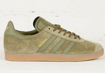 low priced e6c64 b001e NEW adidas GAZELLE Suede Shoes Olive Cargo BB5265 superstar campus samba a1