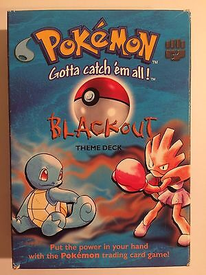 Pokemon trading cards Blackout theme deck 1999 includes 3 holographic cards