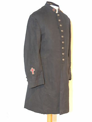 Antique Edwardian Wool Jacket w Metallic Embroidered Crosses c-36