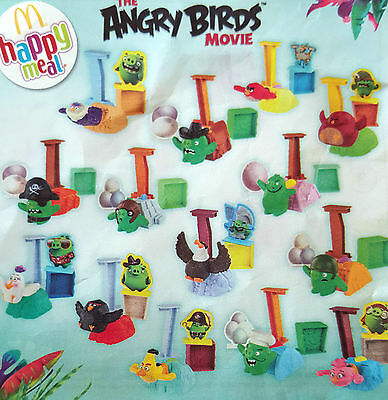 Complete Set Of 14 Mcdonalds 2016 Angry Birds Launcher Toys Brand New In Packets