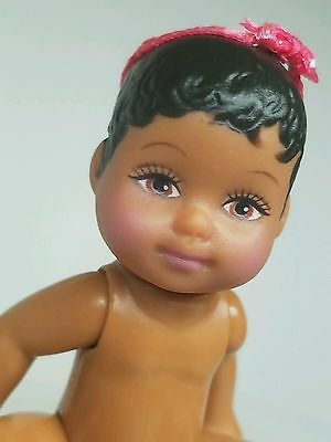 Nude Hazel Eyes~ Mattel Barbie Happy Family Aa Baby Doll For Diorama