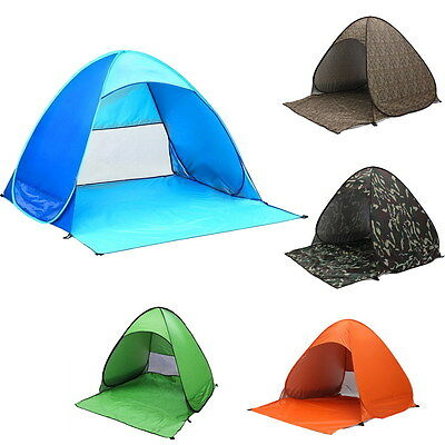 2-3 Person Pop Up Large Camping Tent Outdoor Shelter Camping Hiking Waterproof