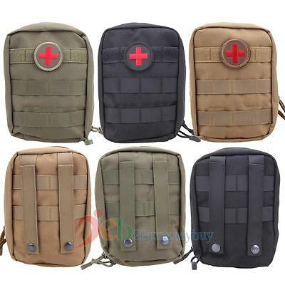 Tactical First Aid Kit Bag Molle Medical EMT Pouch Outdoor Travel Emergency Pack