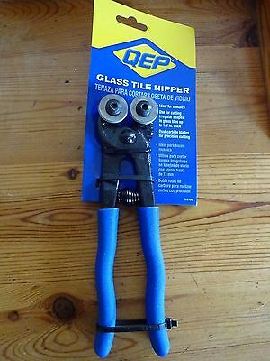 Glass Tile Nippers  By QEP For Mosaics / shapes etc Carbon blades. New