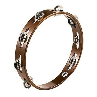 Meinl Percussion TA1AB Traditional 10-Inch Wood Tambourine with Single Row Steel