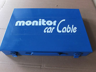 Monitor Car Cable Anschluß Set Car HiFi 24KT. Duplex vergoldet Messing Hi End