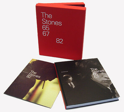 """ROLLING STONES """"65 67 and 82"""" Ltd Editon Signed Book BOXED SET Gered Mankowitz"""