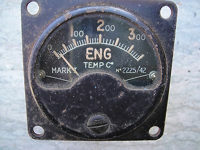 WW 2 RAF Used Engine Temperature MK 1 Gauge Dated 1942