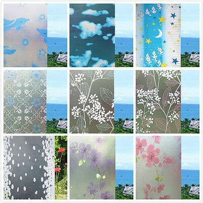 1pcs Waterproof Home Bathroom Window Self Adhesive Frosted Privacy Film Sticker