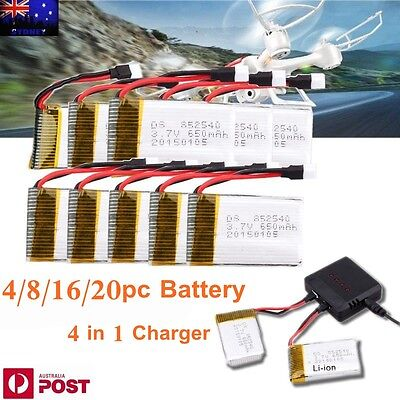 4/8/16/20pcs 3.7V 650/720mAh Syma X5SW X5C-1 Quadcopter Battery +4 in1 Charger