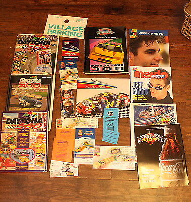 Nascar Jeff Gordon Dale Earnhardt Daytona 500 Maimi 300 Program Ticket Pass Lot