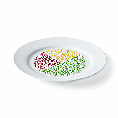 *** CHINA PLATE *** Healthy Portion Plate - Dishwasher and Microwave safe
