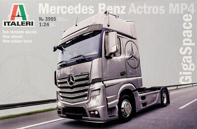 Mercedes Benz Actros MP4 GigaSpace Truck LKW 1:24 Model Kit Bausatz Italeri 3905