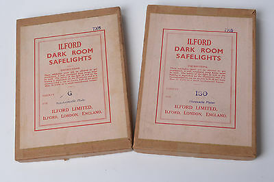 2 Vintage Ilford 7 x 5 Safelight filters - as picture with original box ISO & G
