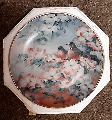 Robins In Dogwood  Franklin Mint Collector's Plate- Fine Porcelain