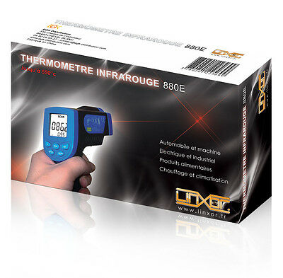 THERMOMETRE LASER INFRAROUGE SANS CONTACT -30° à + 550°