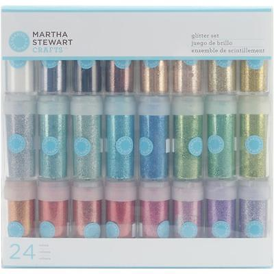 Bling Sparkle Fine Glitter Set 24 Colours Martha Stewart M111102