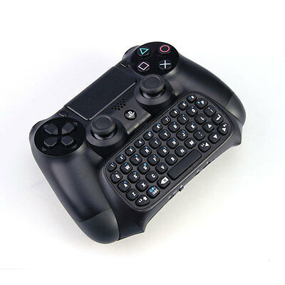 Bluetooth Mini Wireless Chatpad Message Keyboard for Sony PS4 Controller Black