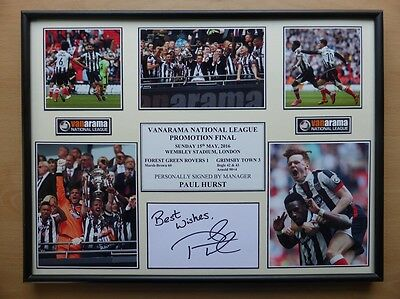 2015-16 Grimsby Town Promotion to Football League Unique Signed Display (9463)