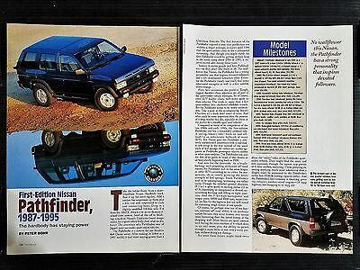 1st Edition Nissan Pathfinder 1987-1995  4 Page Original Article - Free Shipping