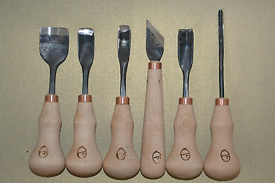 wood carving tools- 6 piece set - handmade - Gilles, Lithuania