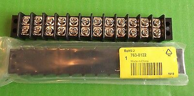 Terminal Block 12 Way Screw 15 Amp Barrier Cinch type RS 763-8122 x 1pc Offer's