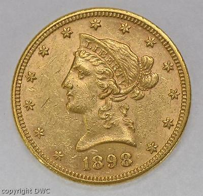 Münze 10 Dollar Coin USA 1898  Eagle aus 900 Gold SS+ Goldmünze