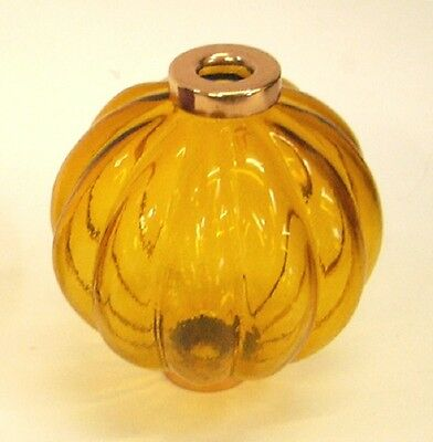 Clear Honey AMBER Pleated Lightning Rod Ball - WeatherVane vane ball