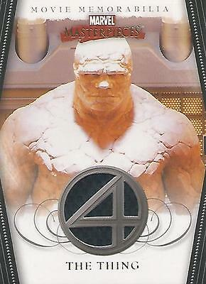 """Marvel Masterpieces 2- FF4 """"The Thing"""" Memorabilia Costume Card (Textured)"""