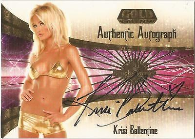 "Benchwarmer 2007 Gold Edition -  #12 of 30 ""Krisi Ballentine"" Autograph Card"