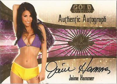 "Benchwarmer 2007 Gold Edition -  #26 of 30 ""Jaime Hammer"" Auto / Autograph Card"