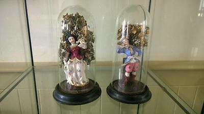 Enchanting Victorian Snow White and Prince Charming Under Glass Domes