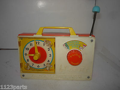 Fisher Price Hickory Dickory Dock Wind Up Musical Clock 1971 Working