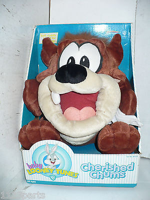Baby Looney Tunes Cherished Chums Stuffed Animal Plush Taz 1999 New in Box