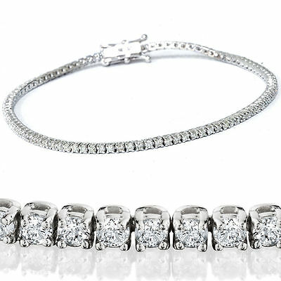 10ct Round Delicated Diamond Tennis Bracelet 14k White Gold Over Classic Sizable