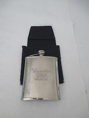 Canadian Club Reserve Stainless Steel Empty Whiskey Flask - Great Gift For Dad
