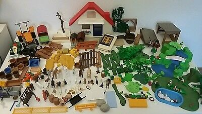 gros lot playmobil animaux vehicules accessoires
