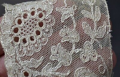 lace collar needle lace Victorian Edwardian white useable antique original 1800