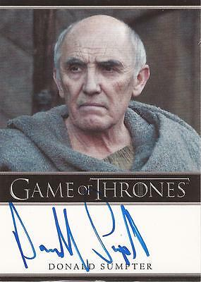 "Game of Thrones Season 2 - Donald Sumpter ""Maester Luwin"" Autograph Card"