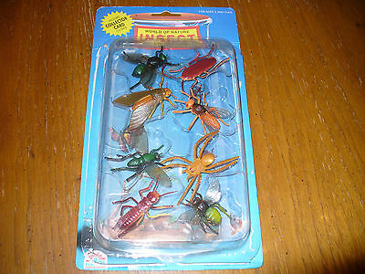 vintage World Of Nature Insect Collection by Funrise 8 realistic toy insects!