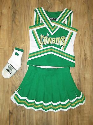 Boutique Girls COWBOYS Cheerleader Uniform +Sox Size 6/8 Sparkle Cheer Outfit